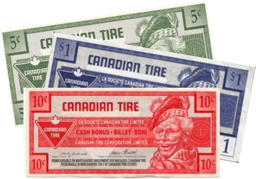 Stamps and Canadian Tire Money For Missions